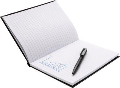 Geschenkset Notizbuch m. Stift, schwarz