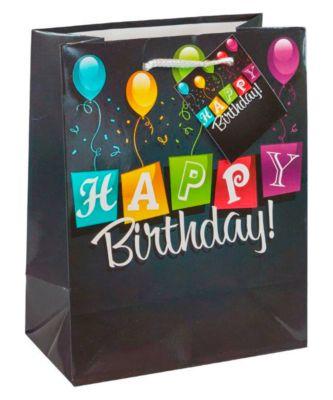 Geschenktasche Geburtstag, mittelgroß, 18 x 10 x 23 cm, 3er-Set, Motiv: Ballons