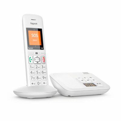 Gigaset E370A DECT Schnurlostelefon, Weiß, mit Anrufbeantworter & Rufnummernanzeige