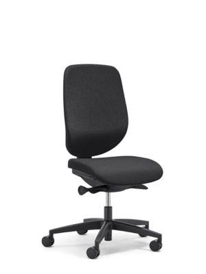 Giroflex Bürostuhl 353, ohne Armlehnen, Auto-Synchronmechanik, Muldensitz, schwarz/schwarz