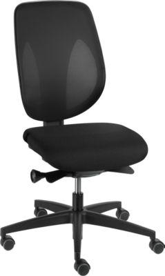 Giroflex Bürostuhl Modell 353, ohne Armlehnen, schwarz/schwarz