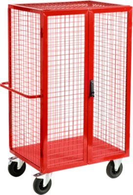 Gitter-Regalwagen mit Türen, 980 x 700 mm