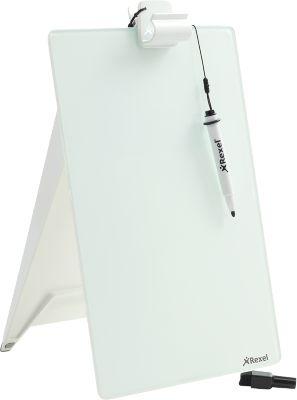 Glas-Notizboard Nobo Diamond, f. Schreibtisch, magnetisch, mit Marker