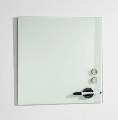 Glasboard Standard, magnethaftend, Sicherheitsglas, 400 x 400 mm, weiß