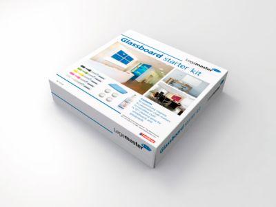 Glasboard-Starterkit Legamaster 7-12500, 4 Magnete, 5 Kreidemarker, 1 Tuch, 1 Spray