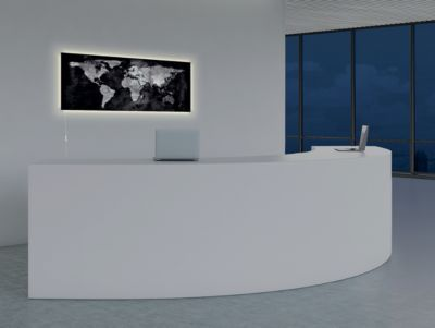 Glasmagnetboard Sigel Business artverum® LED light, World Map, beschreibbar,B 1300 x H 550