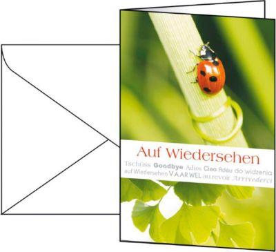 Glückwunsch-Karten, universell einsetzbar, inkl. weißer Umschläge, 10 Stück