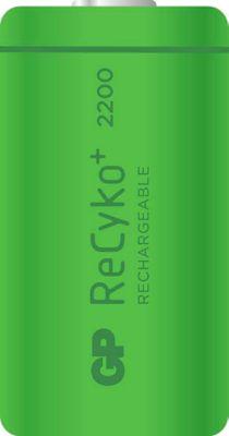 GP Akku-Monozelle NiMH ReCyko+ C 2200, wiederaufladbar, 1,2 V, 2 Stück
