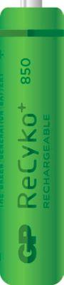 GP Akku NiMH ReCyko+, wiederaufladbar, Micro AAA, 4 Stück