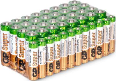 GP Batterien, 32 Mignon AA und 12 Micro AAA Batterien, 1,5 V, Megapack