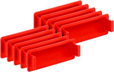 Griffverschluss für Kasten im EURO-Maß, rot, 10 Stück