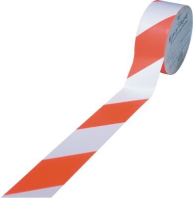 Grondmarkeringstape, 75 mm breed, rood/wit