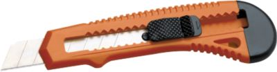 Groot Snijmes, 135 mm lang, mesje 18 mm, oranje, 7 segmenten