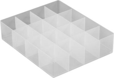 Großer Einsatz, Unterteilung 4 x 4, für versch. Kunststoff-Boxen