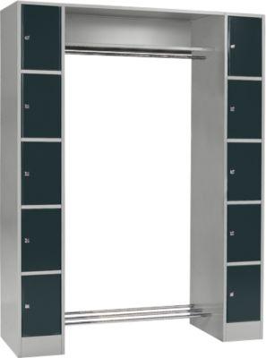 Grundeinheit, Schließfach-Garderobe S 5, hellsilber/anthrazit