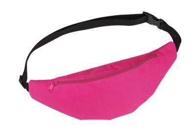 Gürteltasche Belly, aus Polyester, 2 Fächer, verstellbarer Hüftgurt, pink