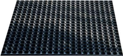 Gummi-Ringmatte, 600 x 400 mm, schwarz