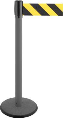 Gurtpfosten GLA 29, anthrazit, Gurt schwarz/gelb
