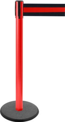 Gurtpfosten GLA 29, rot, Gurt schwarz/rot