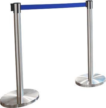 Gurtpfosten RS-Guideline GLA 55, Gurtfabe blau, 2er-Set