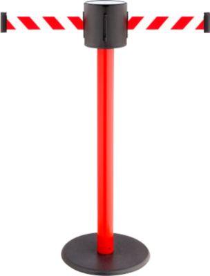 Gurtpfosten RS-Guidesystems GLAD 28 rot, 2 Gurtfarbe rot/weiß
