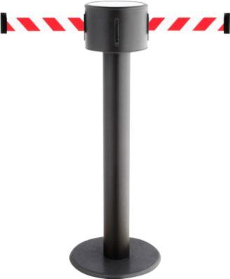 Gurtpfosten RS-Guidesystems GLAD 85 schwarz, Gurtbänder rot/weiß