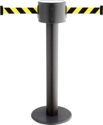 Gurtpfosten RS-Guidesystems GLAD 85 schwarz, Gurtbänder, schwarz/gelb