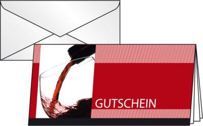 Gutscheinkarte Vino Rosso, DIN lang