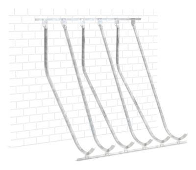 Haakse hoge parkeerder WSM, enkelzijdig, voor banden tot B 60 mm, B 2100 x D 1470 x H 2010 mm, gegalvaniseerd staal, 6 ophangposities