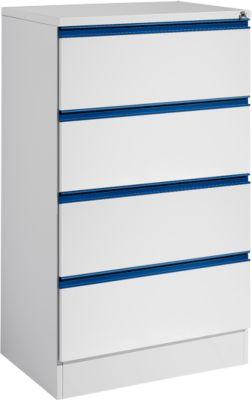 Hängeregistraturschrank HD 24 SP, lichtgrau/enzianblau