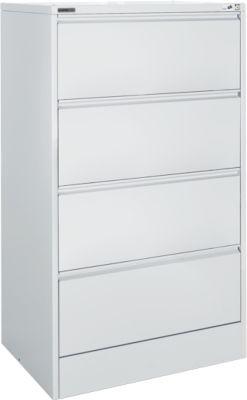Hängeregistraturschrank MS iCONOMY, offener Rahmen, B 780 x T 580 x H 1350 mm, lichtgrau RAL 7035