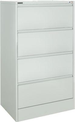 Hängeregistraturschrank MS iCONOMY, Stahl, 2-bahnig, offener Rahmen, B 780 mm, alusilber RAL 9006