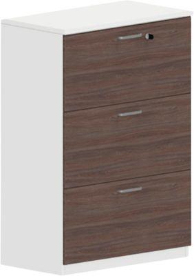Hängeregistraturschrank NEVADA, B 800 x H 1160 mm, weiß/Lärche grau