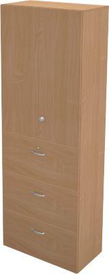 Hängeregistraturschrank TETRIS WALL, 3 Ordnerhöhen, 3 Schübe, B 800 x T 440 x H 2250 mm,