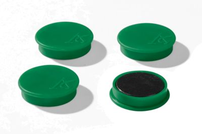 Haftmagnete, Ø 40 mm, Haftkraft ca. 1200 g, 4 Stück, grün