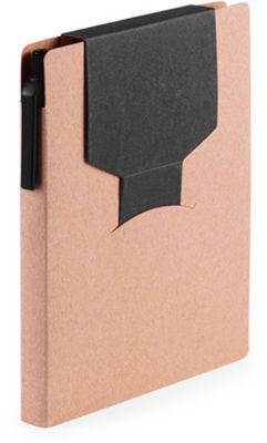 Haftnotizbuch, farbige Stecklasche, schwarz