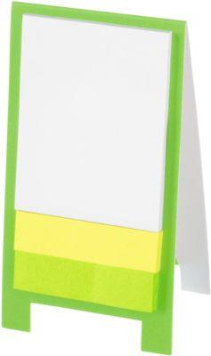 Haftnotizen Aufsteller, mit 80 Haftnotizblättern, Werbefläche 50 x 20 mm, grün
