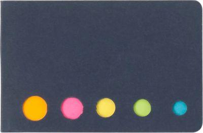 Haftnotizen-Set, jeweils ca. 20 Blatt, inkl. einfarbigem Druck u. allen Grundkosten, schwarz