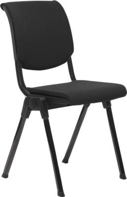 HÅG Conventio mit Sitzpolster schwarz und schwarzem Gestell