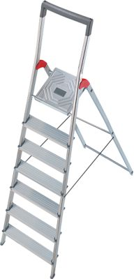 Hailo Alu-Sicherheitsleiter ProfiLine S150, 7 Stufen