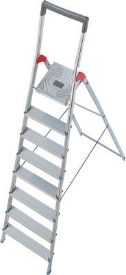 Hailo Alu-Sicherheitsleiter ProfiLine S150, 8 Stufen