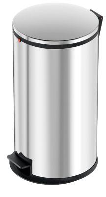 Hailo Tret-Abfallsammler Pure L, 25 Liter, gedämpfter Deckel-Schließ-Mechanismus, edelstahl