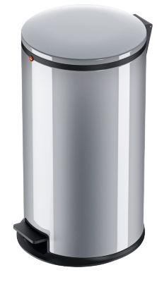 Hailo Tret-Abfallsammler Pure L, 25 Liter, gedämpfter Deckel-Schließ-Mechanismus, silber