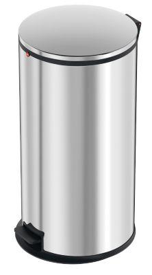 Hailo Tret-Abfallsammler Pure XL, 44 Liter, gedämpfter Deckel-Schließ-Mechanismus, Edelstahl