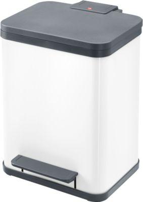 Hailo Tretabfallsammler ProfiLine Solid Öko, 19 Liter, B 310 x T 250 x H 440 mm, weiß