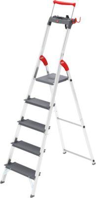 Hailo veiligheidsladder ProfiLine S225 XXR, draagvermogen 225 kg, 5 treden