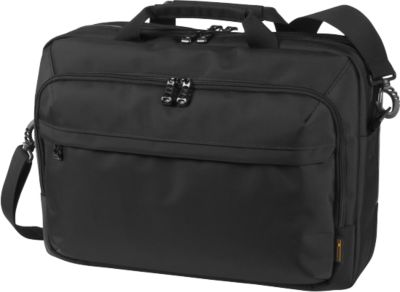 HALFAR Schoudertas Business Mission, met handvat, met laptoptas, nylon, zwart