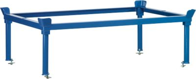 Halsbanden, voor palletchassis, staal, tot 1200 kg, blauw, H 370/652 mm, voor palletchassis, staal, blauw, H 370/652 mm
