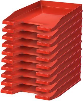 HAN Ablagekorb, DIN C4, Kunststoff, 10 Stück, rot