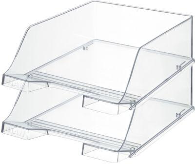 HAN Ablagekorb XXL, Kunststoff, 2 Stück, glasklar